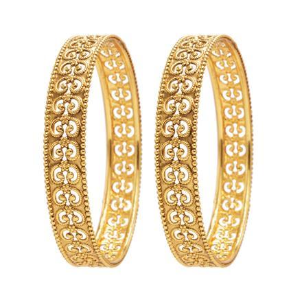 13810 Antique Plain Gold Bangles