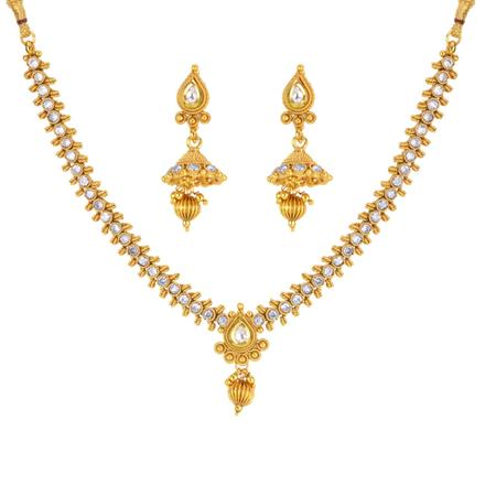 13817 Antique Delicate Necklace with gold plating