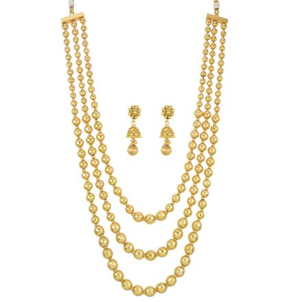 13820 Antique Mala Necklace with gold plating