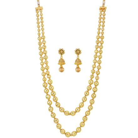 13821 Antique Mala Necklace with gold plating