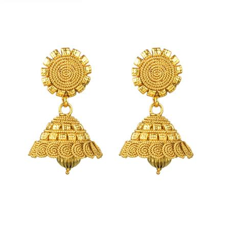 13834 Antique Jhumki with gold plating