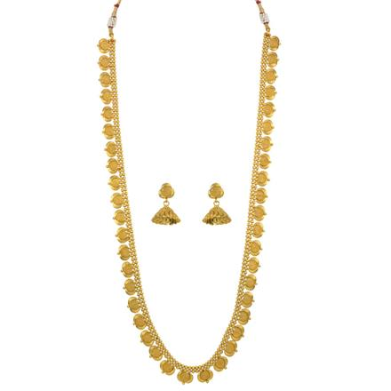 13838 Antique Long Necklace with gold plating