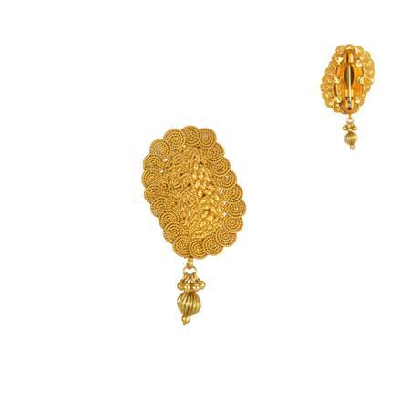 13839 Antique Plain Gold Brooch