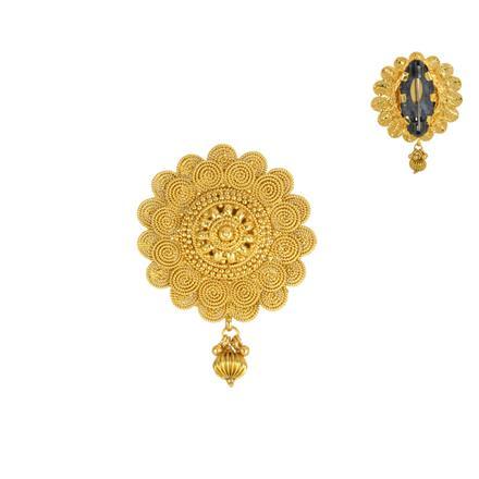 13840 Antique Plain Gold Brooch