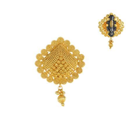 13841 Antique Plain Gold Brooch