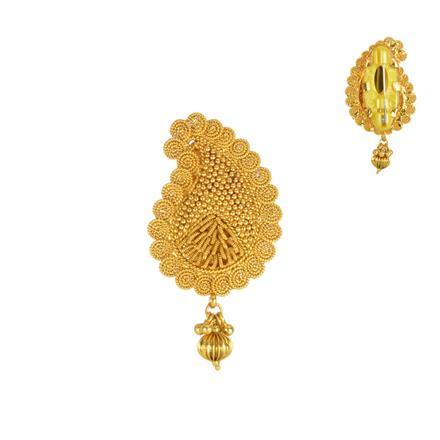 13842 Antique Plain Gold Brooch