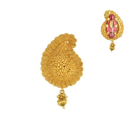 13843 Antique Plain Gold Brooch