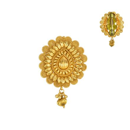 13844 Antique Plain Gold Brooch