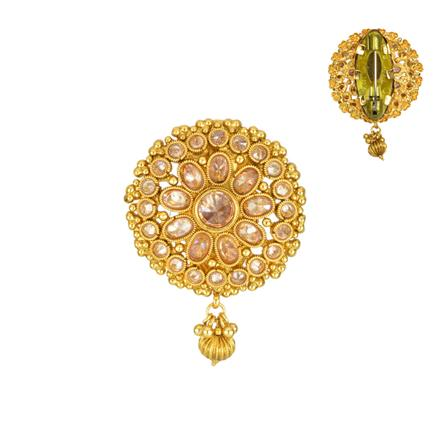 13851 Antique Classic Brooch with gold plating