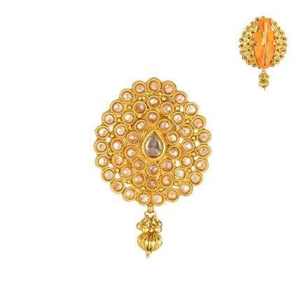 13852 Antique Classic Brooch with gold plating