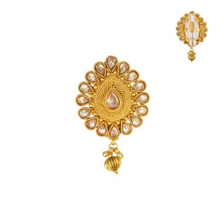 13854 Antique Classic Brooch with gold plating
