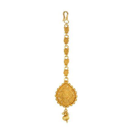 13874 Antique Plain Gold Tikka
