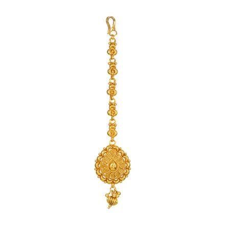 13875 Antique Plain Gold Tikka