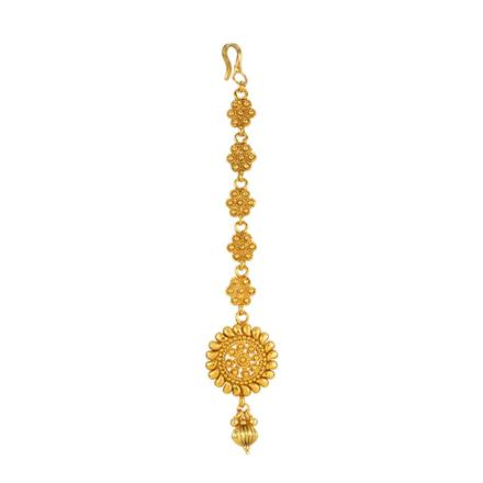 13876 Antique Plain Gold Tikka