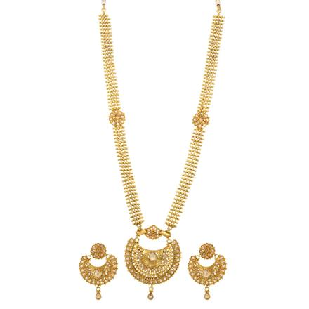13889 Antique Long Necklace with gold plating