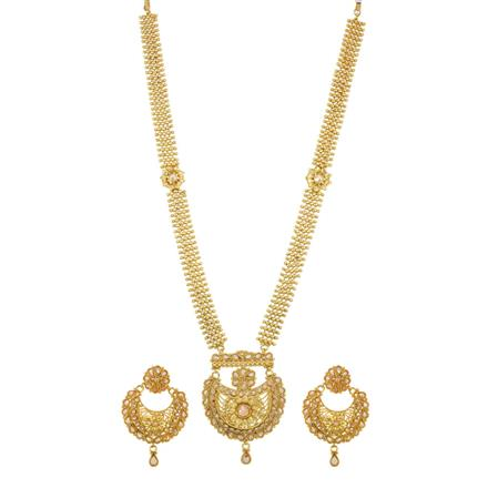 13890 Antique Long Necklace with gold plating
