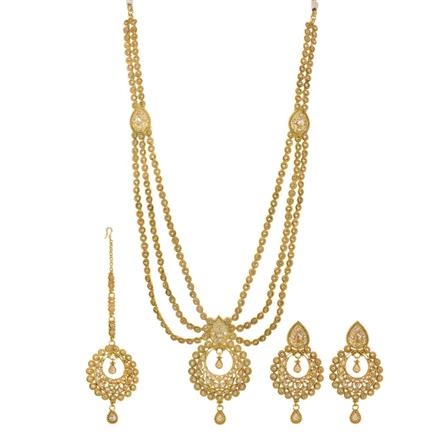 13891 Antique Long Necklace with gold plating