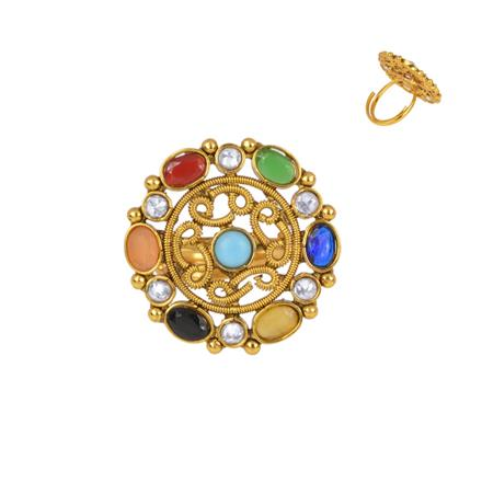 13892 Antique Classic Ring with gold plating