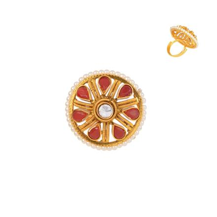 13893 Antique Classic Ring with gold plating