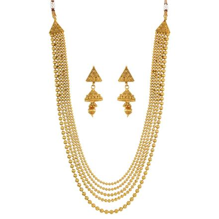 13896 Antique Long Necklace with gold plating