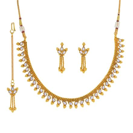 13900 Antique Delicate Necklace with gold plating