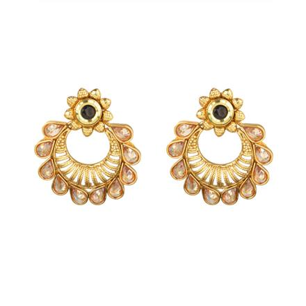 13901 Antique Chand Earring with gold plating