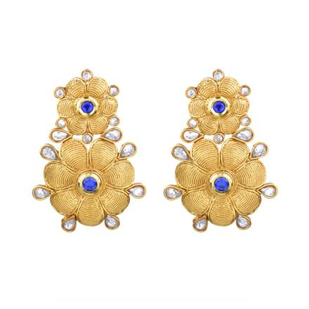 13904 Antique Classic Earring with gold plating