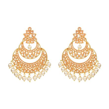 13907 Antique Chand Earring with gold plating