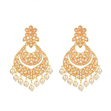 13908 Antique Chand Earring with gold plating