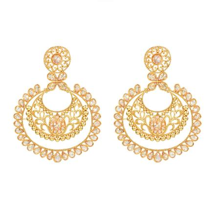 13909 Antique Chand Earring with gold plating