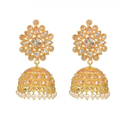 13911 Antique Jhumki with gold plating