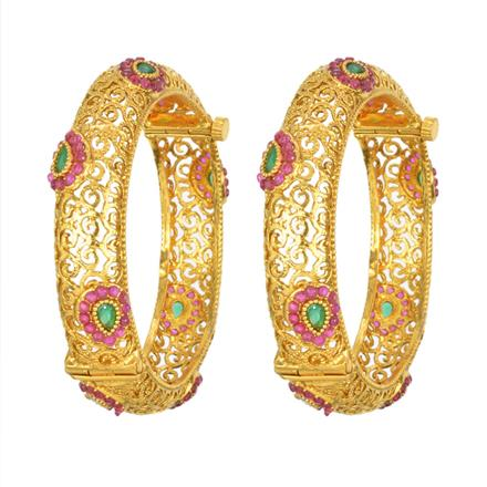 13912 Antique Openable Bangles with gold plating
