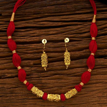 13914 Antique Mala Necklace with gold plating
