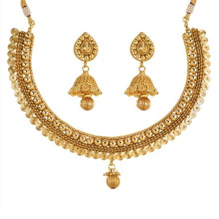 13915 Antique Plain Gold Necklace