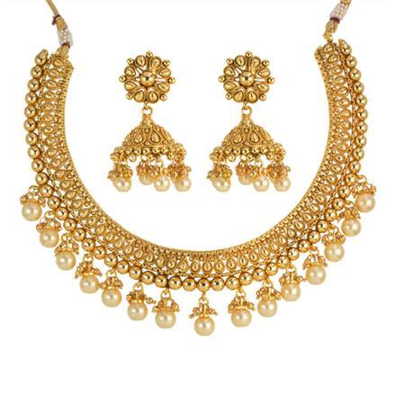 13916 Antique Plain Gold Necklace
