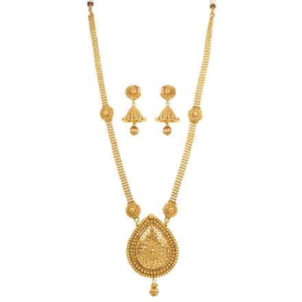 13917 Antique Long Necklace with gold plating