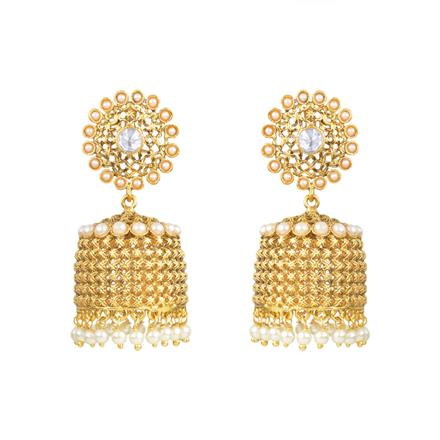 13919 Antique Jhumki with gold plating