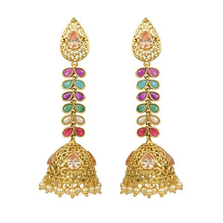 13920 Antique Jhumki with gold plating