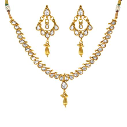 13958 Antique Delicate Necklace with gold plating