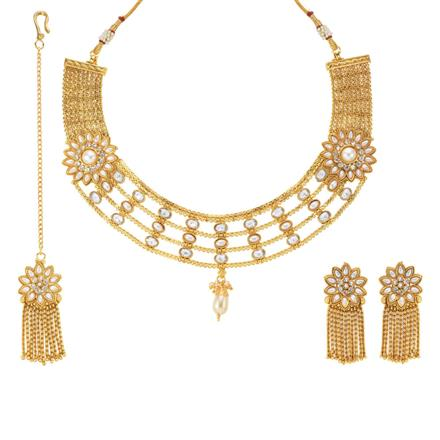 13999 Antique Classic Necklace with gold plating