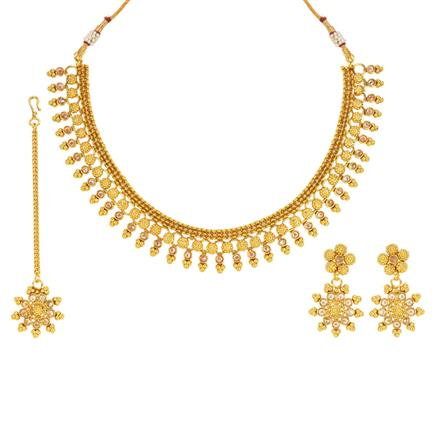 14001 Antique Classic Necklace with gold plating