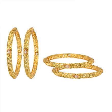 14011 Antique Classic Bangles with gold plating