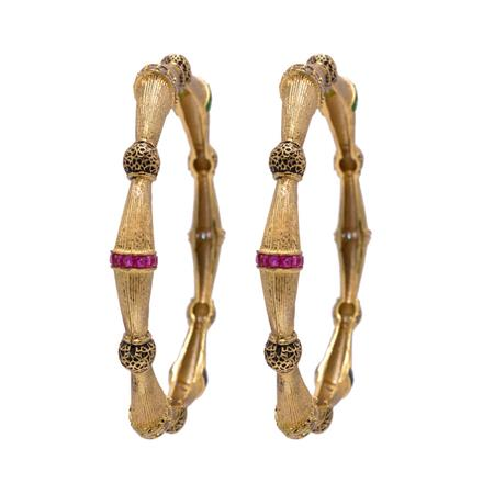 14012 Antique Classic Bangles with gold plating