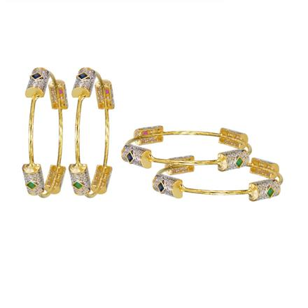 14013 Antique Classic Bangles with gold plating