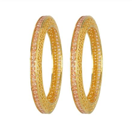 14014 Antique Classic Bangles with gold plating