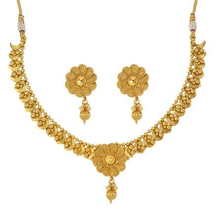14024 Antique Plain Gold Necklace