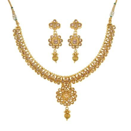 14025 Antique Delicate Necklace with gold plating