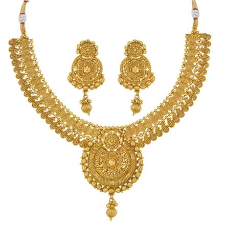 14026 Antique Plain Gold Necklace