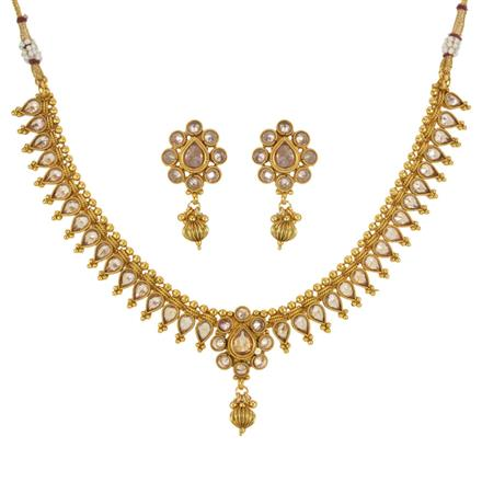 14027 Antique Delicate Necklace with gold plating