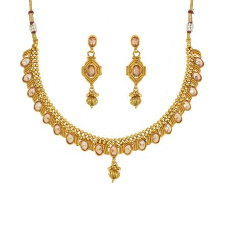 14029 Antique Delicate Necklace with gold plating